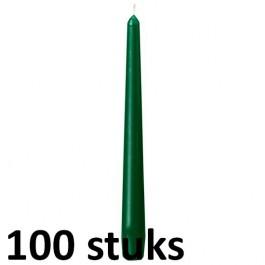 100 stuks groen dinerkaarsen