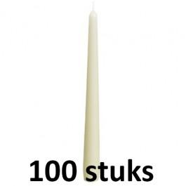 100 stuks Bolsius ivoor gotische dinerkaarsen