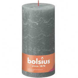 Bolsius eucalyptus groen rustiek stompkaarsen 200/100 (125 uur) Eco Shine Eucalyptus Green