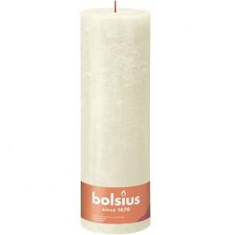 Bolsius ivoor rustiek stompkaarsen 300/100 (200 uur) Eco Shine Soft Pearl