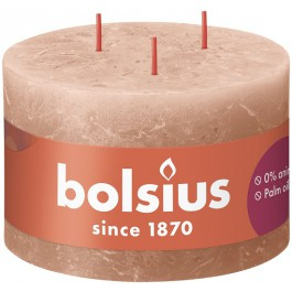 Bolsius caramel bruin rustiek 3 lonten kaars 90/140 (57 uur) Eco Shine Creamy Caramel