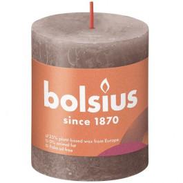 Bolsius rustiek taupe rustiek stompkaars 80/68 (35 uur) Eco Shine Rustic Taupe