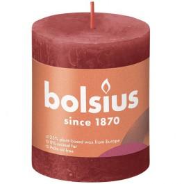 Bolsius rood rustiek stompkaars 80/68 (35 uur) Eco Shine Delicate Red