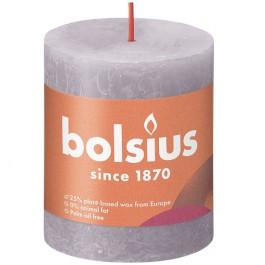 Bolsius paars rustiek stompkaars 80/68 (35 uur) Eco Shine Frosted Lavender