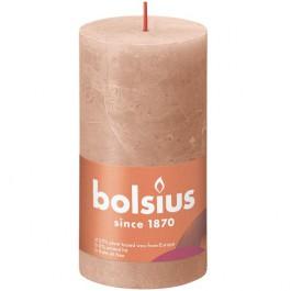 Bolsius caramel bruin rustiek stompkaarsen 130/68 (60 uur) Eco Shine Creamy Caramel