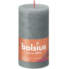 Bolsius eucalyptus groen rustiek stompkaarsen 130/68 (60 uur) Eco Shine Eucalyptus Green