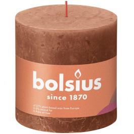 Bolsius terracotta rustiek stompkaarsen 100/100 (62 uur) Eco Shine Rusty Pink