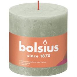 Bolsius lichtgroen rustiek stompkaarsen 100/100 (62 uur) Eco Shine Foggy Green