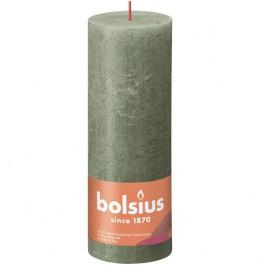 Bolsius olijfgroen rustiek stompkaarsen 190/68 (85 uur) Eco Shine Fresh Olive