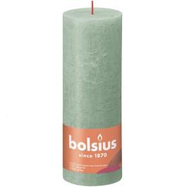 Bolsius sage groen rustiek stompkaarsen 190/68 (85 uur) Eco Shine Sage Green