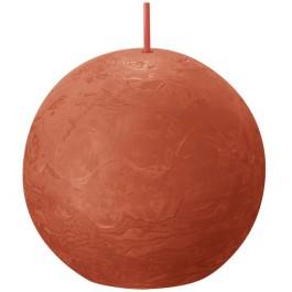 Bolsius oranje rustiek bolkaars Ø 76 mm (25 uur) Eco Shine Earthy Orange