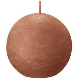 Bolsius terracotta rustiek bolkaars Ø 76 mm (25 uur) Eco Shine Rusty Pink
