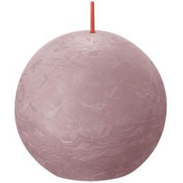 Bolsius oud roze rustiek bolkaars Ø 76 mm (25 uur) Eco Shine Ash Rose