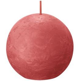 Bolsius zalm roze rustiek bolkaars Ø 76 mm (25 uur) Eco Shine Blossom Pink