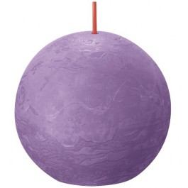 Bolsius violet rustiek bolkaars Ø 76 mm (25 uur) Eco Shine Vibrant Violet