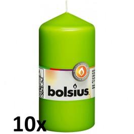 10 stuks lime stompkaarsen 120/60 van Bolsius extra goedkoop in een voordeel verpakking