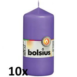 10 stuks violet stompkaarsen 120/60 van Bolsius extra goedkoop in een voordeel verpakking