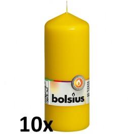 10 stuks geel stompkaarsen 150/60 van Bolsius extra goedkoop in een voordeel verpakking