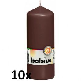 10 stuks bruin stompkaarsen 150/60 van Bolsius extra goedkoop in een voordeel verpakking