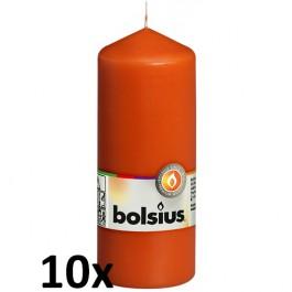 10 stuks oranje stompkaarsen 150/60 van Bolsius extra goedkoop in een voordeel verpakking