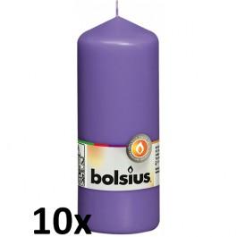 10 stuks violet stompkaarsen 150/60 van Bolsius extra goedkoop in een voordeel verpakking