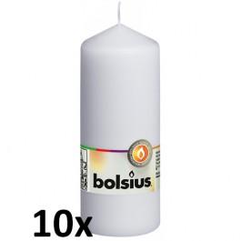 10 stuks witte stompkaarsen 150/60 van Bolsius extra goedkoop in een voordeel verpakking