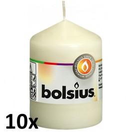 10 stuks Bolsius kaarsjes ivoor 80/58