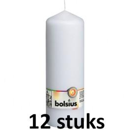 12 stuks Bolsius stompkaarsen wit 170/68