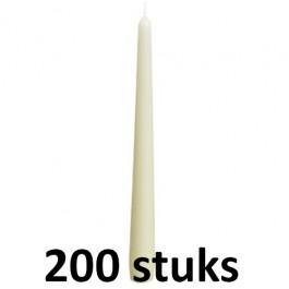 200 stuks Bolsius ivoor gotische dinerkaarsen