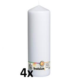 4 stuks wit stompkaarsen 300/100 van Bolsius extra goedkoop in een voordeel verpakking