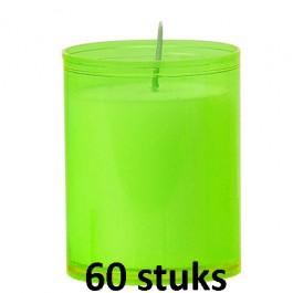 Refill kaarsen lime groen 60 stuks