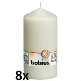 8 stuks ivoor stompkaarsen 150/80 van Bolsius extra goedkoop in een voordeel verpakking