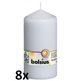8 stuks witte stompkaarsen 150/80 van Bolsius extra goedkoop in een voordeel verpakking