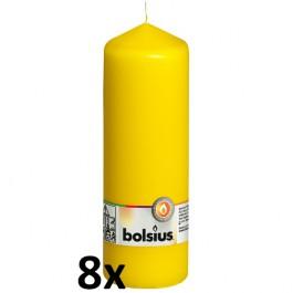 8 stuks geel stompkaarsen 200/70 van Bolsius extra goedkoop in een voordeel verpakking