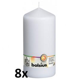 8 stuks wit stompkaarsen 200/100 van Bolsius extra goedkoop in een voordeel verpakking