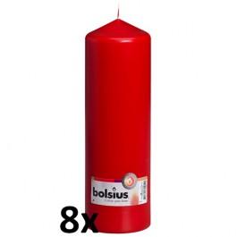 8 stuks rood stompkaarsen 250/80 van Bolsius extra goedkoop in een voordeel verpakking