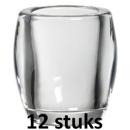 12 stuks Bolsius horeca kaars relight glazen 100/84