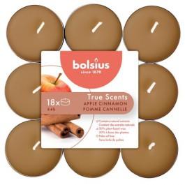 144 stuks Bolsius appelkaneel geurende theelichtjes