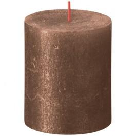 Bolsius metalliek bruin koper gelakte rustieke stompkaarsen 80/68 (35 uur) Shimmer Metallic Copper