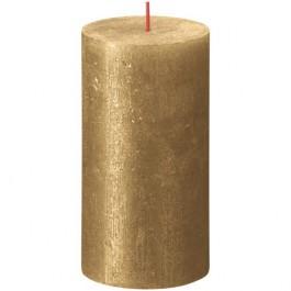 Bolsius metalliek goud gelakte rustieke stompkaarsen 130/68 (60 uur) Shimmer Metallic Gold