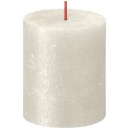 Bolsius metalliek ivoor gelakte rustieke stompkaarsen 80/68 (35 uur) Shimmer Metallic Ivory