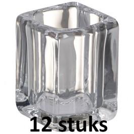 12 stuks Bolsius square 90/70/70 horecakaars glazen