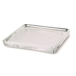 Bolsius vierkant transparant glazen kaarsen onderzetters 100/100/100