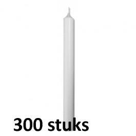 Horeca diner tafelkaarsen wit 250/23 300 stuks