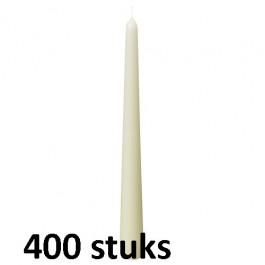 Horeca gotische dinerkaarsen ivoor 250/23 400 stuks