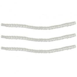 Set van 3 fakkel- en olielamp lonten van glasvezel 130 x 10 mm