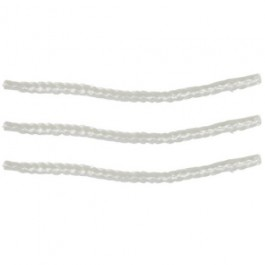 Set van 3 fakkel- en olielamp lonten van glasvezel 205 x 10 mm