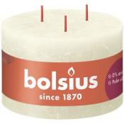 Bolsius ivoor rustiek 3 lonten kaars 90/140 (57 uur) Eco Shine Soft Pearl