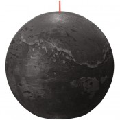 Bolsius antraciet rustiek bolkaars Ø 145 mm (90 uur) Eco Shine Stormy Grey