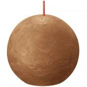 Bolsius bruin rustiek bolkaars Ø 76 mm (25 uur) Eco Shine Spice Brown